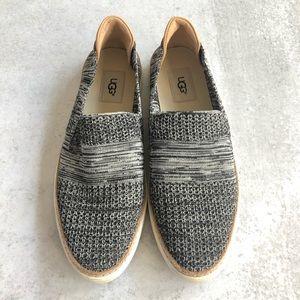 UGG | Gray & Tan Knit Slip On Sammy Sneakers
